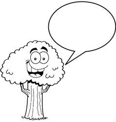 Cartoon Tree with a Caption Balloon vector image