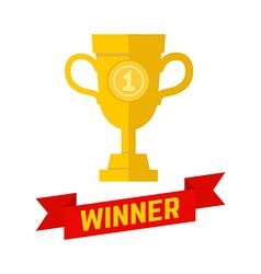 Winner champion icon in flat style vector