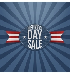 Independence day sale scratched badge vector