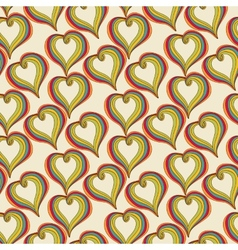 Abstract colorful Hearts on a beige background vector image