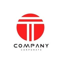 Alphabet letter t logo icon design vector