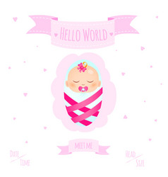 baby girl 2 vector image vector image