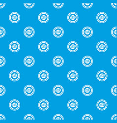 beer bottle cap pattern seamless blue vector image vector image