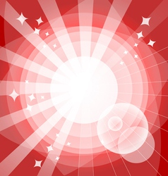 Bright background with rays vector image