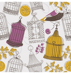 cages drawing wallpaper vector image vector image