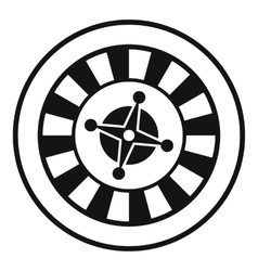 Casino gambling roulette icon simple style vector