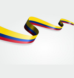 Colombian flag background vector