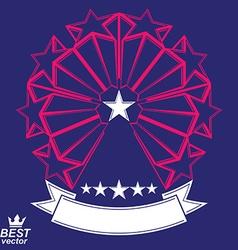 Corporate design element celebrative stars web vector