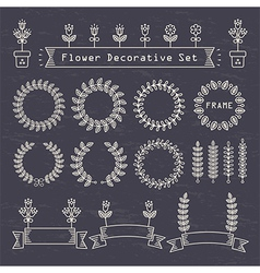 flower decorative set vector image vector image