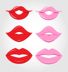 luscious lips vector image