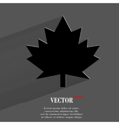 maple Leaf Flat modern web button with long shadow vector image vector image