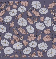 midnight garden seamless pattern with vector image