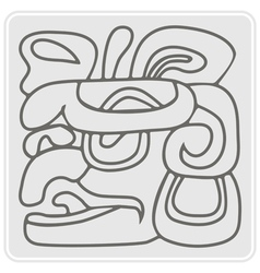 Monochrome icon with american indians relics vector