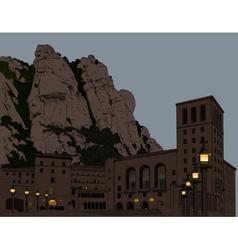 Montserrat monastery vector