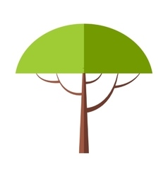 New tree flat symbol vector image vector image