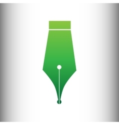 Pen sign green gradient icon vector
