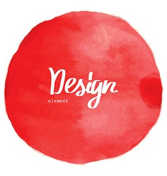 red watercolor circle background vector image vector image