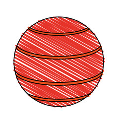 Rubber ball icon image vector