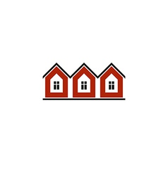 Simple cottages country houses for use in graphic vector