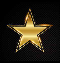 star frame shining banner isolated on vector image
