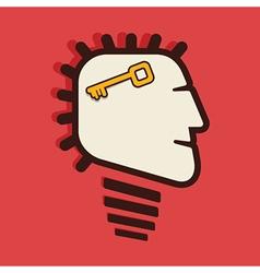 Success key in human head vector
