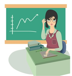 Teacher vector image