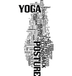Yoga posture text word cloud concept vector