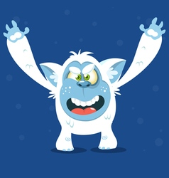 Angry cartoon monster yeti for halloween vector
