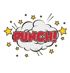 Boxing punch pop art isolated vector