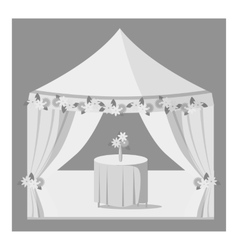 Wedding marquee icon gray monochrome style vector