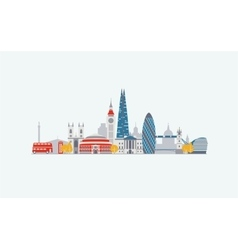 London abstract skyline vector image