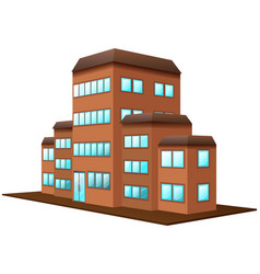 3d design for brown building vector