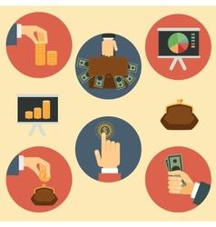 Finance money and analytics vector