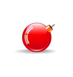 Christmas red ball vector