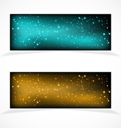 Banners with stars vector