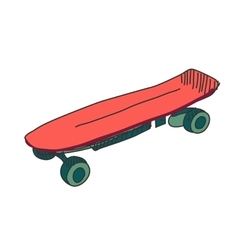 Colored doodle skateboard vector