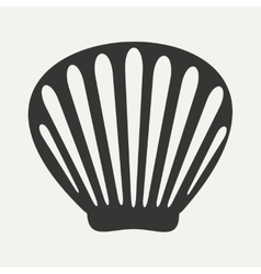 Flat in black and white mobile application shell vector