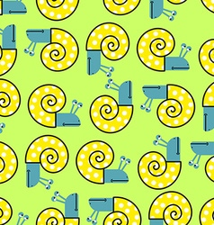 Snail seamless pattern background with clam shells vector