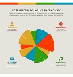 Modern infographics in a pie chart for web or vector