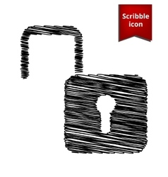 Unlock icon cribble icon for you design vector