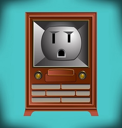 Electric TV Face vector image
