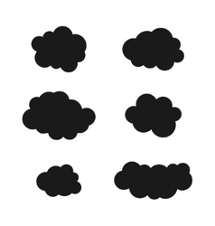 Clouds silhouettes black cloud icons set vector