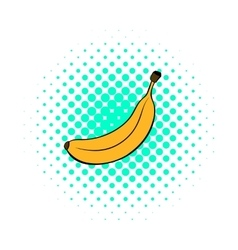 Banana icon in comics style vector