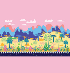 a beautiful magic forest scene fantasy forest vector image
