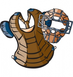 baseball gear vector image vector image