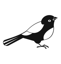 Bird icon simple style vector image