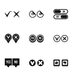Click and selection icons set simple style vector