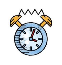 clock alarm watch time sketch vector image