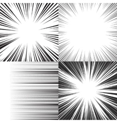 Comic book speed horizontal lines background vector