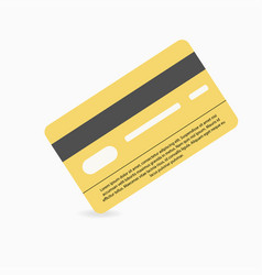 credit card on white background with shadow under vector image